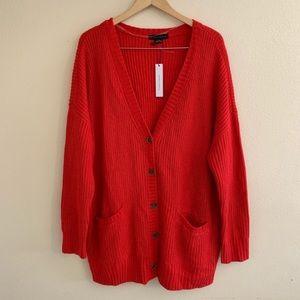 Sanctuary Red Knit Cardigan Keep It Cozy Grandpa